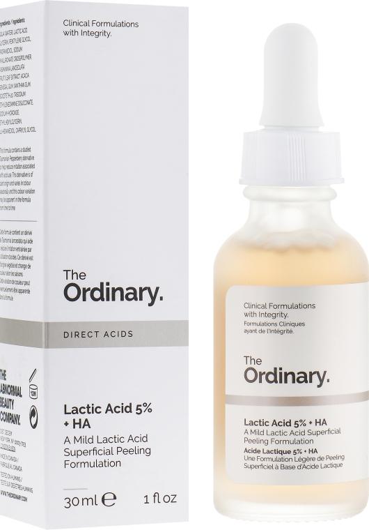 Сыворотка-пилинг для лица с молочной кислотой - The Ordinary Lactic Acid 5% + HA 2%