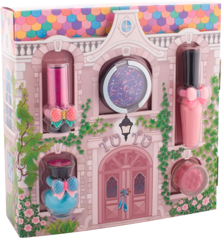 "Набор косметики ""Волшебный домик"" - Tutu Cottage Set (l/balm/4ml+l/gloss/7ml+n/polish/5ml+e/sh/4.5ml+e/sh/2.5ml) — фото N1"