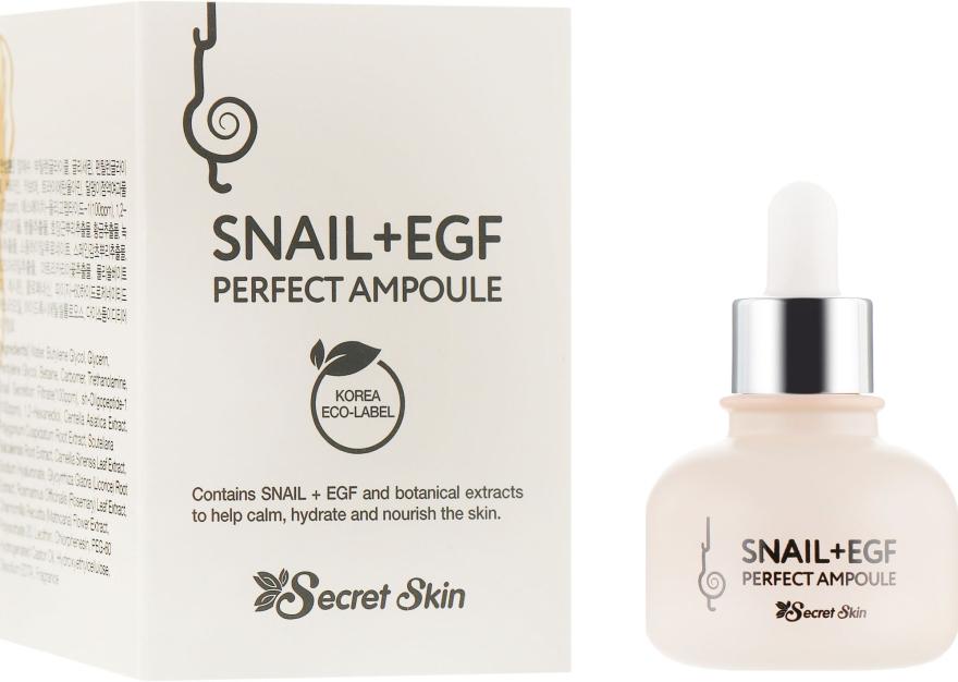 Сыворотка для лица с муцином улитки - Secret Skin Snail+EGF Perfect Ampoule