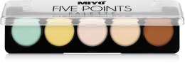 Духи, Парфюмерия, косметика Палетка корректоров для лица - Miyo Five Points Palette Perfect Sellfie Palette