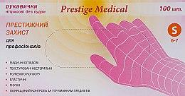 Духи, Парфюмерия, косметика Перчатки нитриловые, без пудры, розовые, размер S - Prestige Medical
