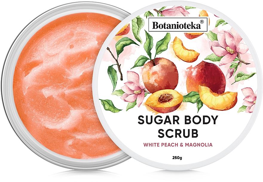 "Сахарный скраб для тела ""Белый персик и магнолия"" - Botanioteka Sugar Body Scrub White Peach & Magnolia"