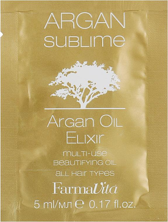 Эликсир с Аргановым маслом - Farmavita Argan Sublime Elexir (пробник)