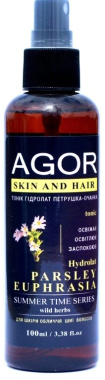 "Тоник ""Гидролат петрушка-очанка"" - Agor Summer Time Skin And Hair Tonic"