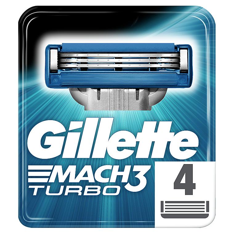 Сменные кассеты для бритья, 4 шт. - Gillette Mach3 Turbo