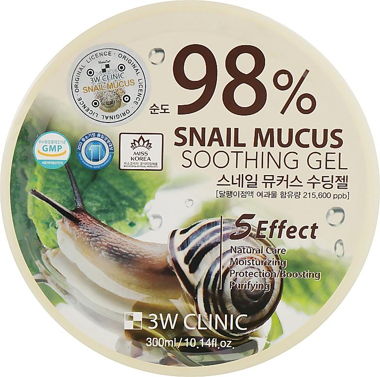 """Гель универсальный """"Улиточный муцин"""" - 3W Clinic Snail Soothing Gel"""
