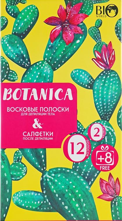 Набор для депиляции тела - Bio World Botanica (полоски/12шт+8шт + саше)