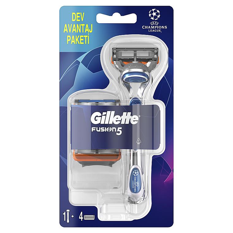 Бритва с 4 сменными кассетами - Gillette Fusion5