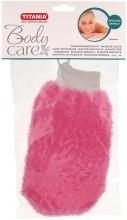Парфумерія, косметика Масажна рукавичка відлущувальна, рожева - Titania