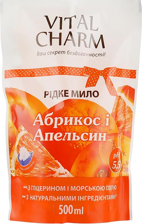 """Жидкое мыло с глицерином, экстрактом """"Абрикоса и Апельсина"""" - Vital Charm"""