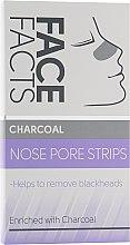 Духи, Парфюмерия, косметика Очищающие полоски для носа - Face Facts Charcoal Nose Pore Strips