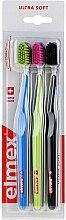 Духи, Парфюмерия, косметика Зубные щетки, ультра мягкие, черная+зеленая+синяя - Elmex Swiss Made