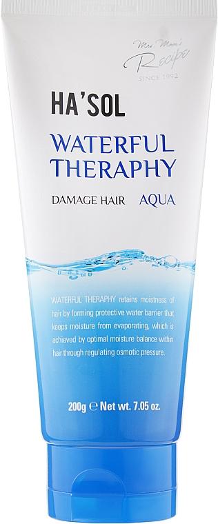Маска для глубокого увлажнения и питания волос - Hasol Waterful Therapy Damage Hair
