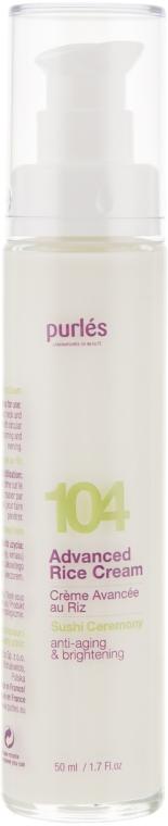 Рисовый крем для лица - Purles 104 Advanced Rice Cream