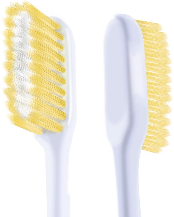 """Набор """"Шелковые нити 1+1"""", мягкая, голубая + желтая - Colgate Toothbrush — фото N4"""
