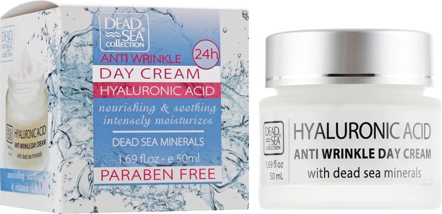 Дневной крем против морщин - Dead Sea Collection Hyaluronic Acid Anti-Wrinkle Day Cream