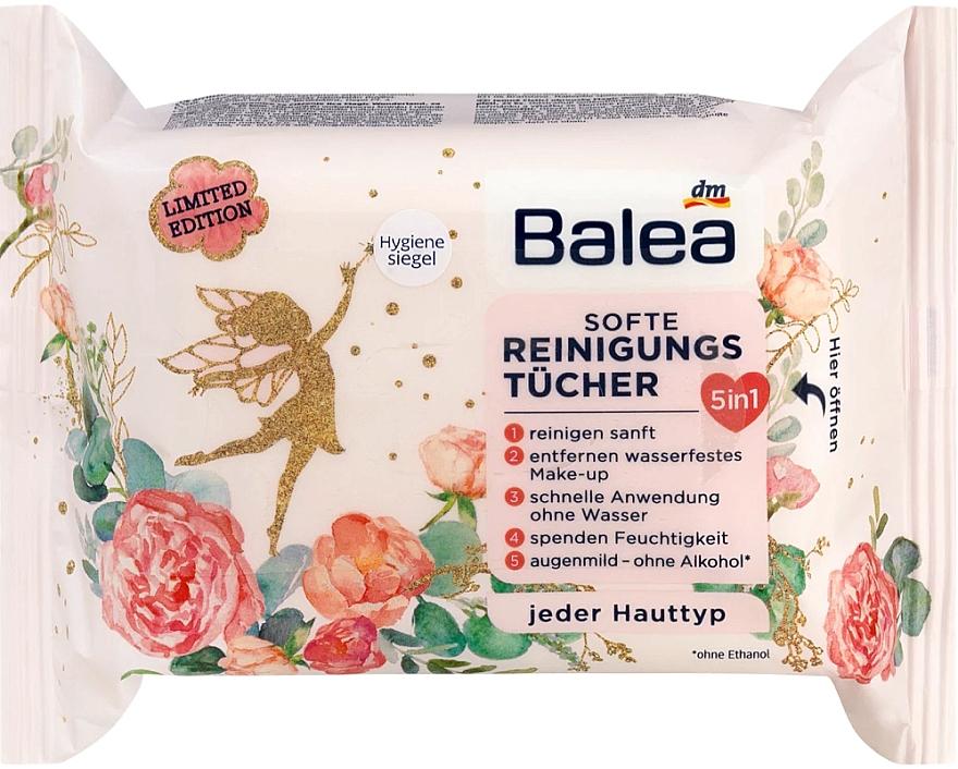 Влажные очищающие салфетки для снятия макияжа - Balea Magic Wonderland Wet Wipes