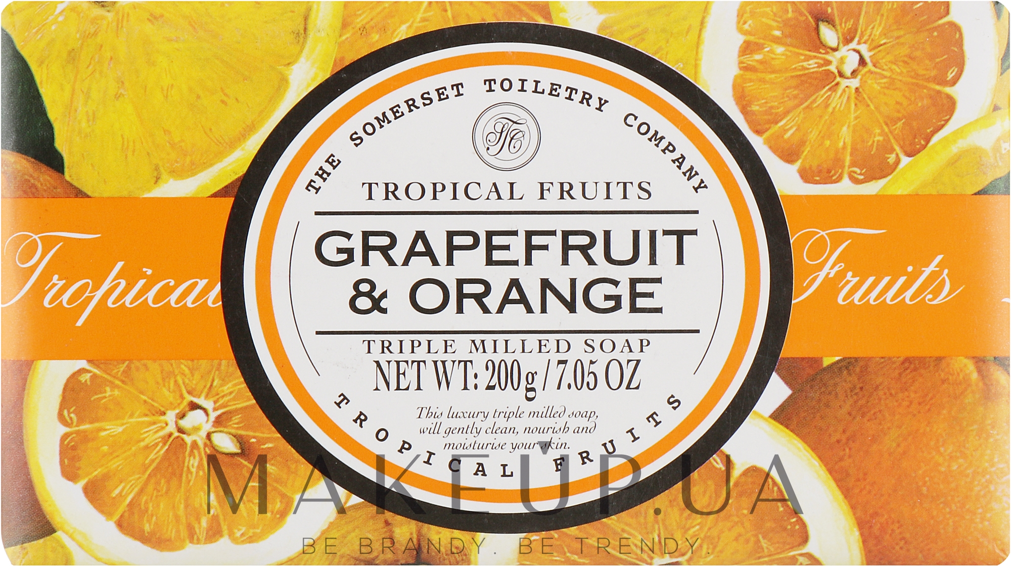 "Мыло ""Грейпфрут и апельсин"" - The Somerset Toiletry Co. Tropical Fruits Soap — фото 200g"