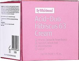 Духи, Парфюмерия, косметика Крем для лица с кислотами и гибискусом - By Wishtrend Acid-Duo Hibiscus 63 Cream