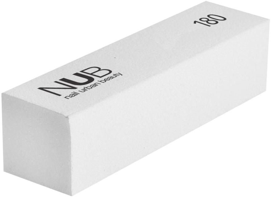 Баф-пилка для ногтей, белая, 180 - NUB