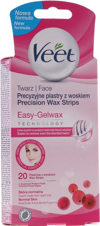 Полоски восковые для лица - Veet Wax Strips for Face