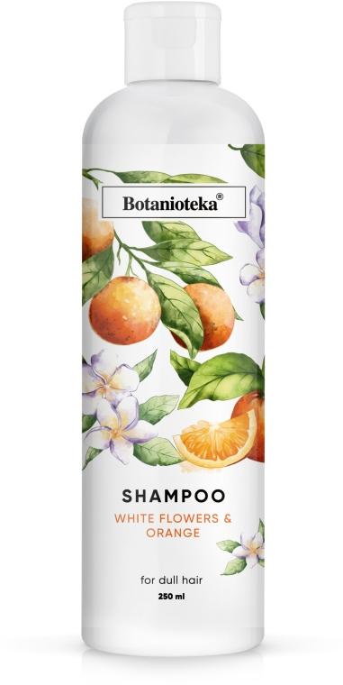 "Шампунь для тусклых волос ""Апельсин и белые цветы"" - Botanioteka Shampoo For Dull Hair"