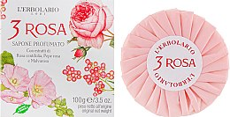 "Духи, Парфюмерия, косметика Душистое мыло ""3 Розы"" - L'Erbolario 3 Rosa Sapone Profumato"