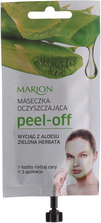 Маска для лица с экстрактом алоэ и зеленого чая - Marion Peel-Off Mask