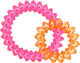 Духи, Парфюмерия, косметика Резинки для волос, 414562, прозрачно-малиновая + прозрачно-оранжевая - Glamour