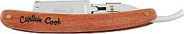 Духи, Парфюмерия, косметика Опасная бритва, 04894 - Eurostil Captain Cook Wooden Shaving Razor