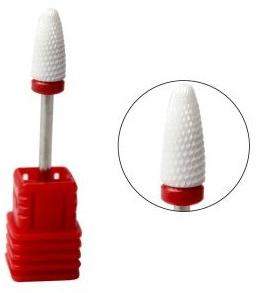 Фреза для маникюра сменная керамическая, красная насечка - Tufi Profi Flame F