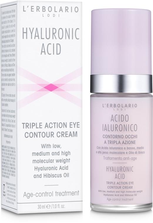 Крем с гиалуроновой кислотой для кожи вокруг глаз - L'Erbolario Acido Ialuronico Contorno occhi