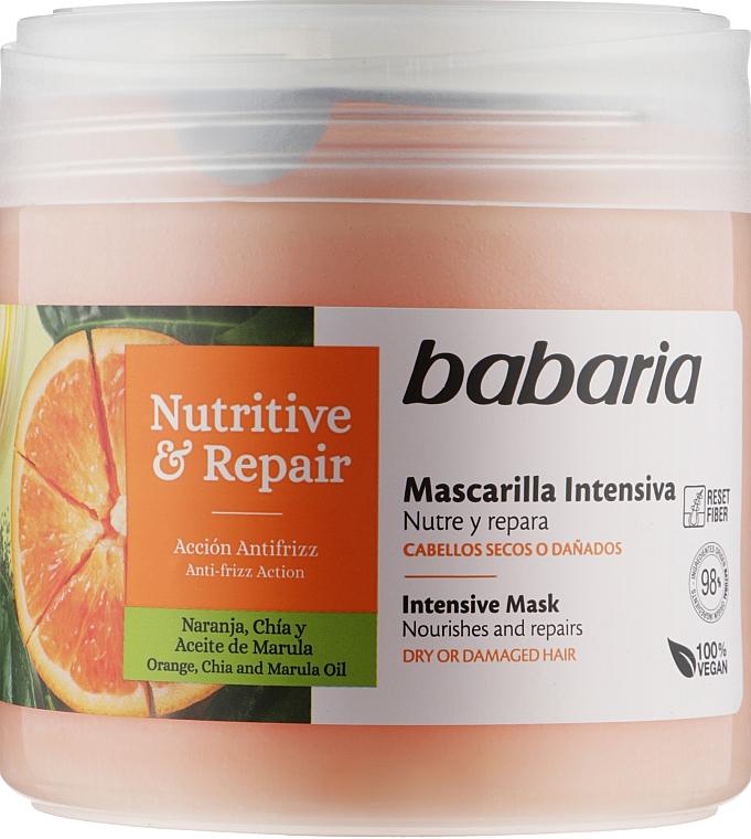 """Интенсивная маска для волос """"Питания и восстановления"""" - Babaria Intensive Mask Nutritive & Repair"""