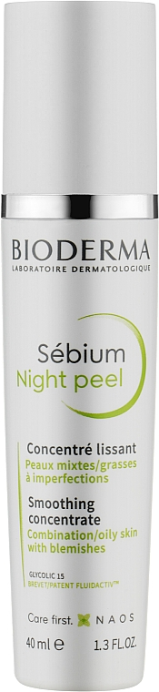 Разглаживающий концентрат - Bioderma Sebium Night Peel Smoothing Concentrate