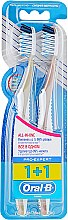 """Духи, Парфюмерия, косметика Набор зубных щеток """"Экстра чистка. Все в одном"""", 40 средней жесткости, оливковая + коричневая - Oral-B Pro Expert CrossAction All in One"""