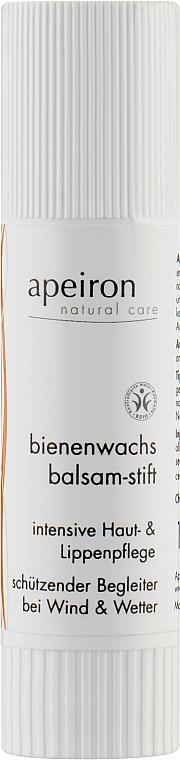 Бальзам для губ с пчелиным воском - Apeiron Bienenwachs Balsam-Stift