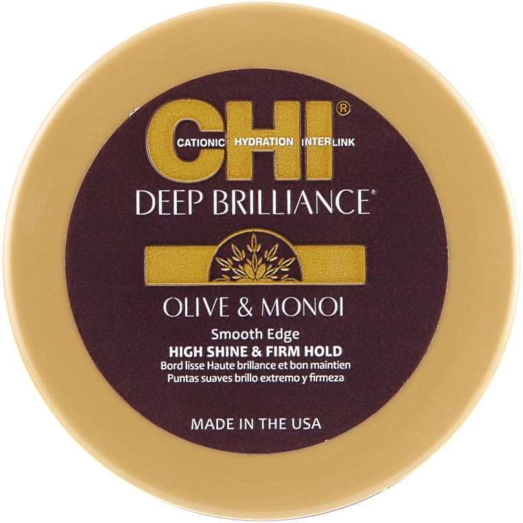 Сияющая помада для укладки волос - CHI Deep Brilliance Olive & Monoi Smooth Edge