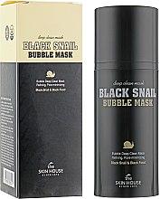 Кислородная маска с улиткой и древесным углем - The Skin House Black Snail Bubble Mask — фото N1