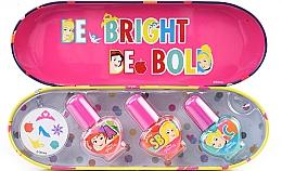 Духи, Парфюмерия, косметика Набор лаков для ногтей в металлическом футляре с наклейками - Markwins Disney Princess