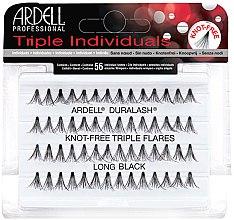 Духи, Парфюмерия, косметика Набор пучковых ресниц - Ardell Triple Individual Long Black
