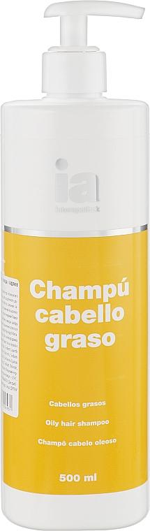 Шампунь для жирных волос с экстрактами плюща и репейника с дозатором - Interapothek Shampu Cabello Graso