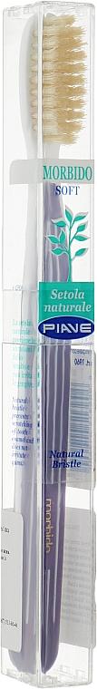 Зубная щетка с натуральной щетиной, мягкая, фиолетовая - Piave