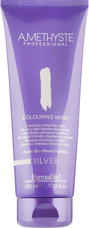 Маска для волос, красящая, для серебристых оттенков - FarmaVita Amethyste Colouring Mask Silver