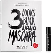 Духи, Парфюмерия, косметика Тушь для ресниц - M2Beaute 3 Looks Black Nano Mascara (пробник)