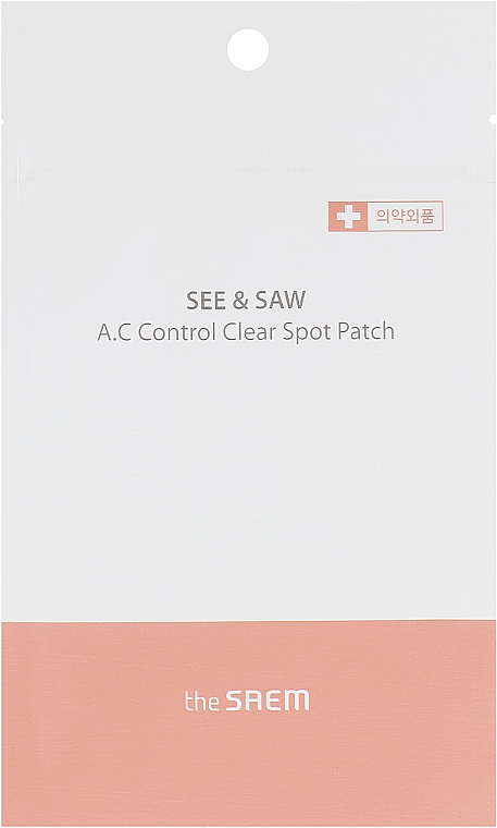 Патчи для проблемной кожи - The Saem See & Saw A.C Control Spot Patch