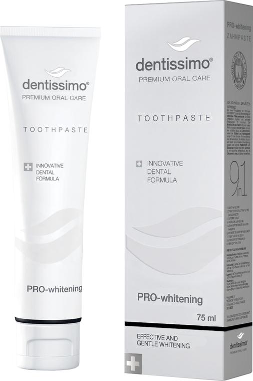 Отбеливающая зубная паста - Dentissimo Pro-Whitening Tothpaste