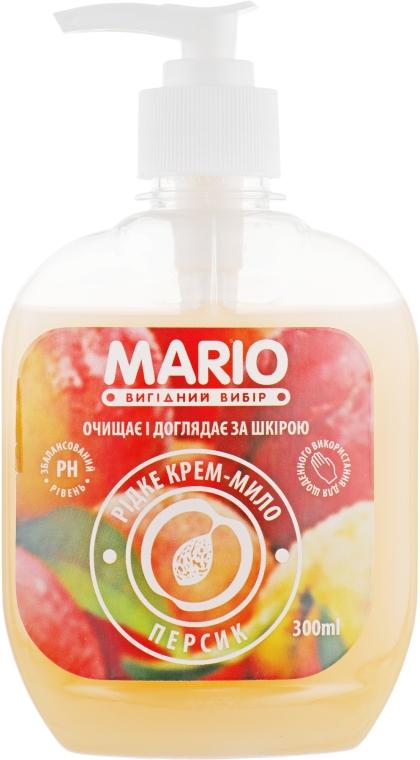 """Жидкое крем-мыло """"Персик"""" - Mario"""