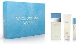 Духи, Парфюмерия, косметика Dolce&Gabbana Light Blue - Набор (edt 100 + b/c 100 + mini 7)