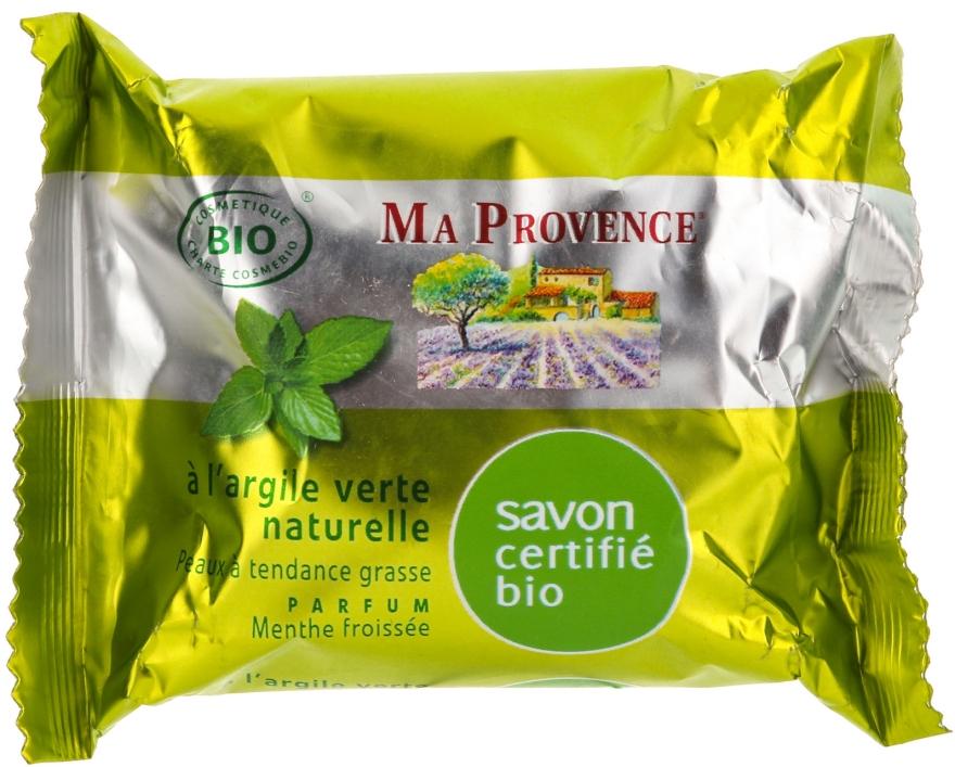 """Органическое мыло с ароматом мяты """"Зеленая глина"""" - Ma Provence Nature Soap"""