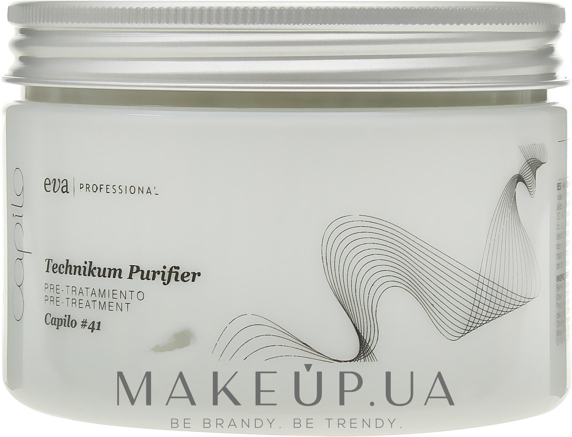 Маска для смягчения волос / стимуляции фолликул - Eva Professional Capilo Technikum Purifier #41 — фото 450ml